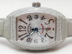 豪華★フランクミュラー コンキスタドール 8005 SCKING・全面ダイヤモンド