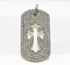 Chrome Hearts クロムハーツ ドッグタグラージ ダイヤモンド