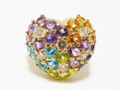 ☆美品☆K18 マルチ ダイヤモンドリング 2.0ct☆