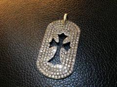 美品☆Chrome Hearts ドッグチャームラージ ダイヤモンド