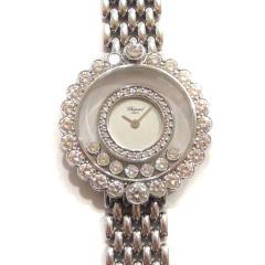 ショパール ハッピーダイヤモンド K18WGダイヤ巻きブレス時計