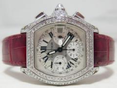 Cartier・カルティエ・ロードスタークロノグラフ 全面ダイヤモンド