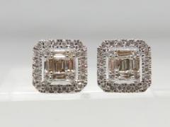K18WG 0.50ctダイヤモンド ピアス