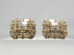 K18YG 合計1.00ct ダイヤモンドピアス