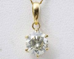 ☆美品☆K18 イエローダイヤモンドネックレス 0.79ct