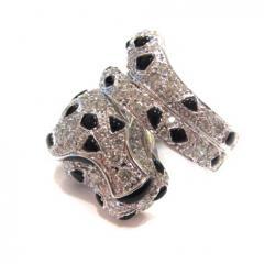 ラグジュアリー パンサーリング 高品質ダイヤモンド