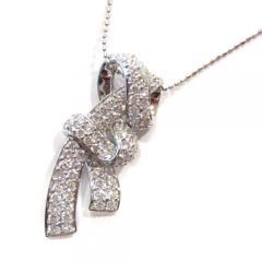 リボンモチーフ×ダイヤモンドネックレス