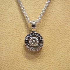 ブルガリブルガリ 1粒ダイヤモンドネックレス K18WG