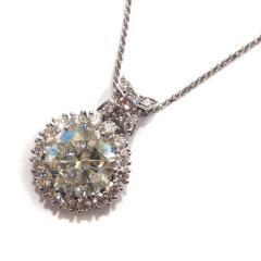 超大粒ダイヤモンドネックレス D10.088ct