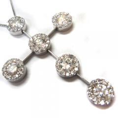 ダイヤモンド1.91ct クロスネックレスK18WG