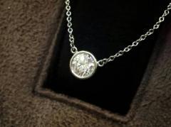 希少★ティファニー Pt950 バイザヤードネックレス ダイヤモンド