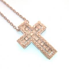 クロスダイヤネックレス
