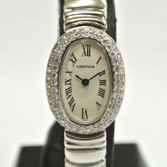 カルティエ(Cartier) ミニべニュワール K18WG ダイヤベゼル