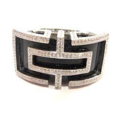 オニキス×ダイヤモンド デザインリング