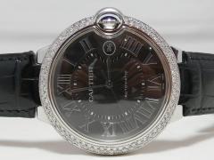 カルティエ バロンブルーLM ブラックローマ文字盤 ダイヤモンドコレクション