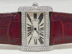 CARTIER カルティエ タンクディヴァンLM ダイヤモンドコレクション