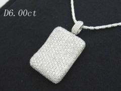 天然ダイヤモンド・高品質6.0ctペンダント