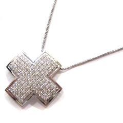 クロスダイヤモンドネックレス
