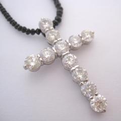 超豪華 ダイヤモンド10.48ct クロスネックレス