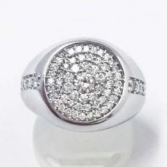 新品★K18WG ダイヤモンドリング D1.00ct
