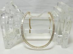 希少 K18YG VSランク バケットダイヤモンド 4.6ct ネックレス