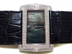 WG無垢 Vincent&Co 約7ct純正ダイヤモンドコレクション ブラックシェル文字盤