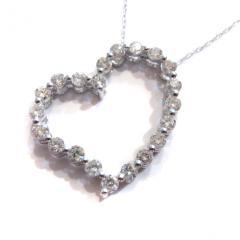 ハート型ダイヤモンド×K18WG ネックレス