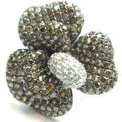 フラワーリング ダイヤ/4.55ct