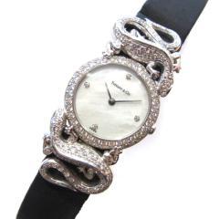 ティファ二ー トカゲダイヤ巻きPT950 時計