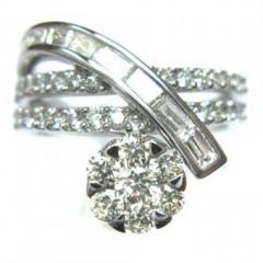 D1.13ct ダイヤモンドデザインリング