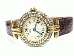 Cartier マストコリゼヴェルメイユ ベゼル3重ダイヤ