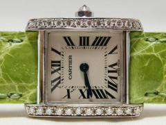 Cartier カルティエ WG無垢 タンクフランセーズSM ダイヤベゼル