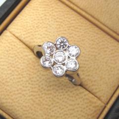 ブルガリ 7粒ダイヤモンドリング×Pt950