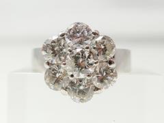 フラワーモチーフ 合計3ct ハイジュエリー MD ダイヤモンドリング