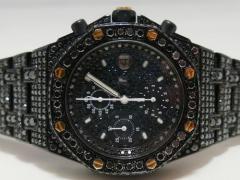 PVD ロイヤルオークオフショアクロノ 全面ブラックダイヤモンドコレクション