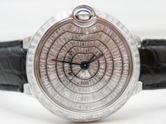 極上!!Cartier バロンブルー42mm・全面バケットダイヤ