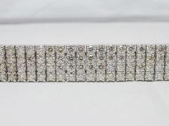 Pt850 4連テニスブレス  ダイヤモンド 合計17.93ct