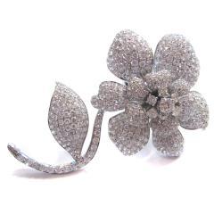 超豪華フラワーデザインダイヤモンドリング