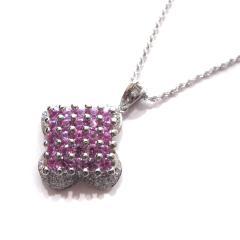 ピンクサファイヤ×ダイヤモンド ネックレス