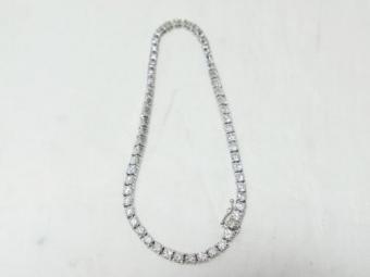 WG ダイヤモンド合計5ct 計57P テニスブレスレット