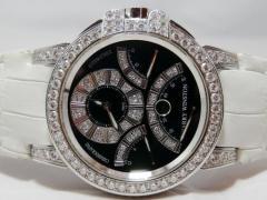 HARRY WINSTON ハリーウィンストン オーシャン クロノ K18WG 全面ダイヤモンド