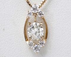 ☆美品☆K18PG ダイヤモンドネックレス 0.496ct