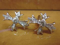 豪華◆美品◆注文作成可能◆ダイヤモンドクロスカフス