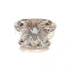 希少 超大粒8.560ctダイヤモンドリング