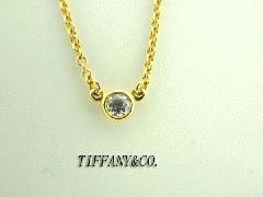 TIFFANY&CO.☆バイザヤードプチネックレス☆K18